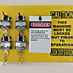"9""x12"" STATION, 4 BLUE BUMBER PADLOCKS, 25 ""DO NOT OPERATE TAGS"" TO EQUIP INDIVIDUAL MACHINES"