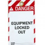 "WARNING TAGS ""DANGER - EQUIPMENT LOCKED OUT"""