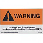 "WARNING. ARC FLASH AND SHOCK HAZARD…(3""x5"") 5PK"