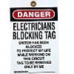 "WARNING TAGS, DANGER - ""LIVE WIRE"" 25PK"