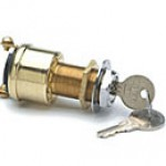 2-POSITION:OFF-ON(IGN), 2 BRASS SCREWS, W/KEY, WEATHER RESISTANT