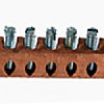 NEUTRAL BAR COPPER 14-4 AWG 8 TAPS