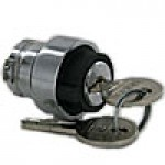 3 POSITION KEY SELECTOR SWITCH, MOUNTED, KEY REMOVABLE FROM CENTER POSITION