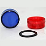 LENS, BLUE, LENS SET FOR PILOT LIGHT HEAD (ONE INNER DIFFUSER & ONE OUTER LENS)