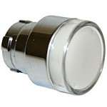 FLUSH HEAD, SPRING RETURN, ILLUMINATING ACTUATOR, WHITE