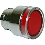 FLUSH HEAD, SPRING RETURN, ILLUMINATING ACTUATOR, RED