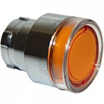 FLUSH HEAD, SPRING RETURN, ILLUMINATING ACTUATOR, AMBER