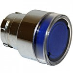 FLUSH HEAD, SPRING RETURN, ILLUMINATING ACTUATOR, BLUE