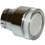 FLUSH HEAD, SPRING RETURN, ILLUMINATING ACTUATOR, CLEAR