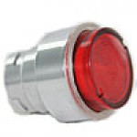 FLUSH HD SPRING RETURN , ILLUMINATING ACTUATOR, RED FOR LED & NEON BULBS