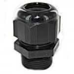 "RD29AA are dome cap nylon cable glands PG29 thread (.70-.98"") black"