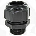 "RDM32AA are dome cap nylon cable glands metric M32 thread (.70-.98"") black"