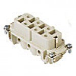FEMALE INSERT - 6P+Ground  35A MAX - 600V  SCREW TERMINAL  (CPF06)