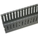 "S12080C is 5"" x 3"" wire duct gray 6'6""pc with cover"