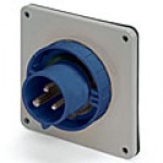 IP67/IEC309 PIN & SLEEVE INLET 63A  250VAC  2 POLE 3 WIRE  WATERTIGHT