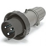 IP67/IEC309 PIN & SLEEVE PLUG 20A  277VAC  2 POLE 3 WIRE  WATERTIGHT