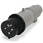 IP44/IEC309 PIN & SLEEVE PLUG 20A  3 PHASE 600VAC  3 POLE 4 WIRE  SPLASHPROOF