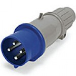 IP44/IEC309 PIN & SLEEVE PLUG 20A  3 PHASE Y250VAC  3 POLE 4 WIRE  SPLASHPROOF