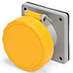 IP67/IEC309 PIN & SLEEVE RECEPTACLE 16A  110VAC  2 POLE 3 WIRE  WATERTIGHT