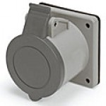 IP44/IEC309 PIN & SLEEVE RECEPTACLE 20A  277VAC  2 POLE 3 WIRE  SPLASHPROOF