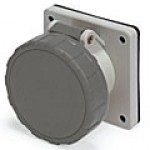 IP67/IEC309 PIN & SLEEVE RECEPTACLE 20A  277VAC  2 POLE 3 WIRE  WATERTIGHT
