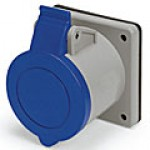 IP44/IEC309 PIN & SLEEVE RECEPTACLE 20A  250VAC  2 POLE 3 WIRE  SPLASHPROOF