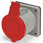 IP44/IEC309 PIN & SLEEVE RECEPTACLE 16A  380-415VAC  3 POLE 4 WIRE  SPLASHPROOF