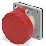 IP67/IEC309 PIN & SLEEVE RECEPTACLE 16A  220-240/380-415VAC  4 POLE 5 WIRE  WATERTIGHT