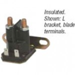 "SPST, INTERMITTENT DUTY, 200A, 12V, INSULATED, 2 BLADES, 5/16""-24 LARGE STUDS,  L BRACKET"