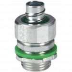 """3/8"""" Liquid Tight Conduit Fittings with Insulated Throat"""