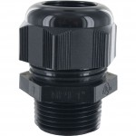 "Nylon Dome Cap Cable Gland 1"" NPT .70-.98"" Black"