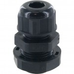 "Nylon Dome Cap Cable Gland 3/8"" NPT Black"