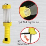 FLUORESCENT, 18W. YELLOW, W/GROUNDED RECEPTACLE, 16/3 SJT, 6FT