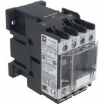 4 Pole Contactor 9 Amp 4 N/O 110 Volt AC Coil Angle