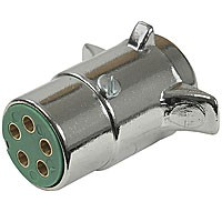 5-POLE DIE CAST PLUG, CHROME PLATED
