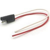 """2 POLE PAIR UNIVERSAL TRAILER CONNECTOR, COLOR CODED 16AWG WIRE 6"""" LONG"""