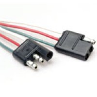 """3 POLE PAIR UNIVERSAL TRAILER CONNECTOR, COLOR CODED 16AWG WIRE 6"""" LONG"""