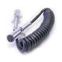 2 TRACTOR TRAILER PLUGS (12092), 12FT COILED CABLE