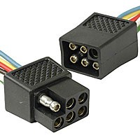 """6-POLE SQUARE TYPE ASSEMBLY, 12"""" LEADS 18GA"""