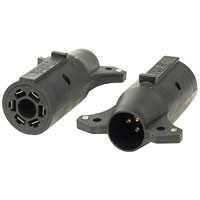 7-POLE BLADE TO 6-POLE ROUND CONNECTOR, BRAKE PIN IN CENTER