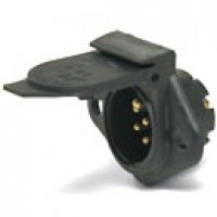 7 POLE TRAILER SOCKET, GLASS-FILLED PLASTIC, INSULATED