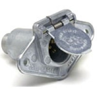 6 POLE TRAILER SOCKET W/ PROTECTIVE HOUSING