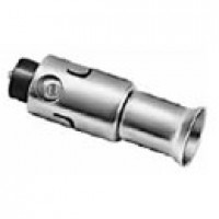 """ACCESSORY PLUG, SINGLE CONTACT, PERMITS USE OF 12V DOUBLE WIRE CIRCUIT FROM STANDARD AUTO ACC. PLUG, .822"""" DIA."""