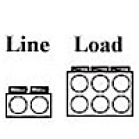 POWER DISTRIBUTION BLOCK , LINE 350MCM-6AWG 2 OPENING, LOAD 2/0-14AWG 6 OPENING, 1POLE (AL-P2-K6)