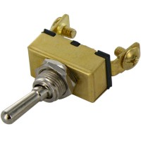 765075 2 Screw Toggle Switch Brass Case Light Duty with Face Plate