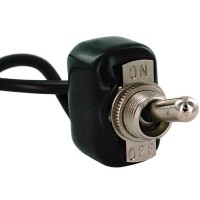 PVC Coated Toggle Switch for Weather Resistance with wire leads