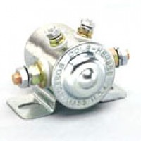 SPST, INTERMITTENT DUTY, 12V, INSULATED, 4STUD, MARINE CONSTRUCTION, CLEAR PROTECTIVE FINISH, BRAS HEX & LOCKWASHERS