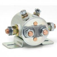 DPST, CONTINUOUS DUTY, 12V, INSULATED, 4STUD