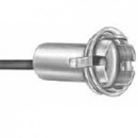 "MINIATURE SOCKET, SNAP-IN 5/8"" HOLE, SINGLE CONTACT, 8"" WIRE LEAD, ACCEPTS BA9 BASE BULB"