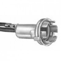 """MINIATURE SOCKET, SNAP-IN 5/8"""" HOLE, SINGLE CONTACT, GROUND LEAD ATTACHED TO SHELL, ACCEPTS BA9 BASE BULB"""